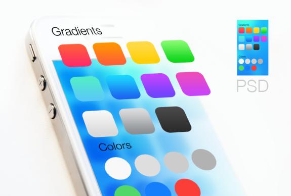 gradients iOS 7 psd